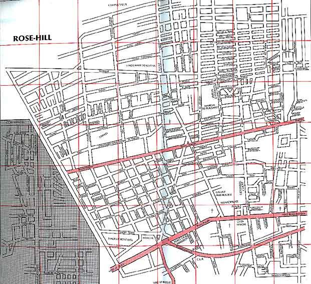 Plan Des Villes De L Ile Maurice Rose Hills